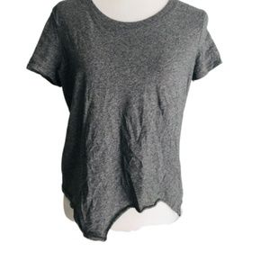 Madewell Small T-shirt Grey Asymmetrical Crop